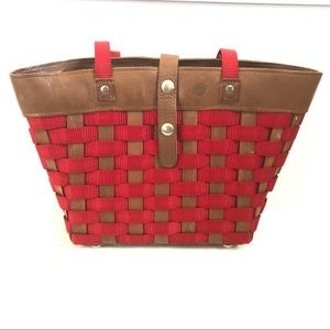 Longaberger to go basket tote bag